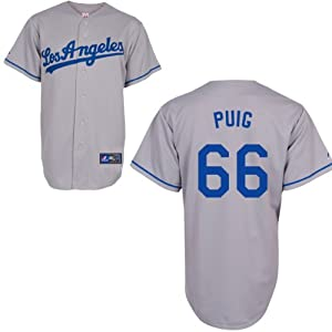 Buy Yasiel Puig Los Angeles Dodgers Road Replica Jersey by Majestic by Majestic