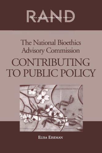 The National Bioethics Advisory Commission: Contributing to Public Policy