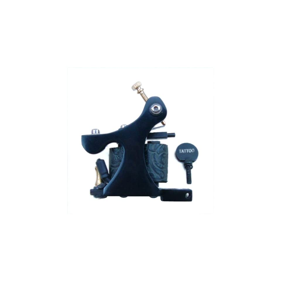 Cast Iron Frame 8 Wrap Coil Dual coiled Tattoo Machine Shader Liner   Black