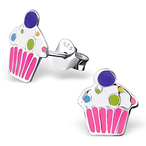 jayarer-kinder-ohrringe-muffin-cupcake-9-x-8-mm-emaille-925-sterling-silber-mehrfarbig-bunt-im-etui-