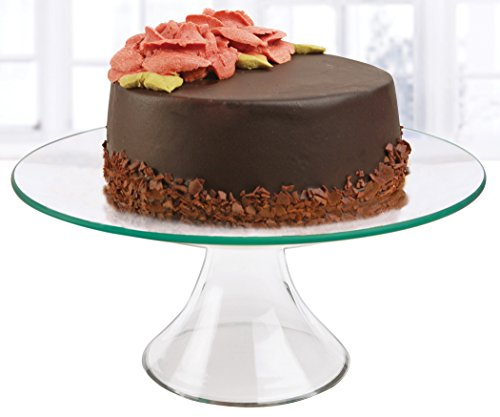 Circleware Chic Glass Cake Stand, Medium 10