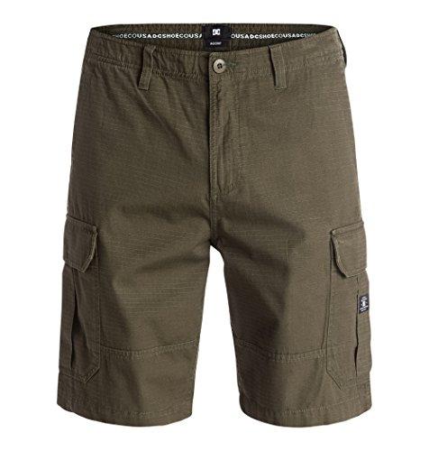 DC Ripstop - Pantaloni corti cargo da uomo, Uomo, Shorts Ripstop Cargo, Verde oliva scuro, 33