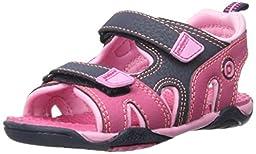 pediped Flex Navigator Water Sandal (Toddler/Little Kid), Pink/Navy, 25 EU(8.5 E US Toddler)