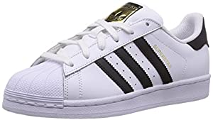 adidas Originals Superstar C77154, Unisex-Kinder Low-Top Sneaker, Weiß (Ftwr Weiß/Core Schwarz/Ftwr Weiß), EU 38 2/3