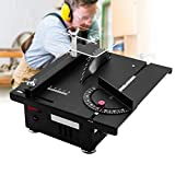 ETE ETMATE Electric Table Saw, Mini Portable Tabletop Saw Machine, Adjustable Lifting DIY Tool, for Wooden Model Metal Tile Art Craft (Small, Table Saw) (Color: Table Saw, Tamaño: Small)