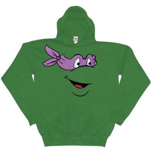 Old Glory Mens Teenage Mutant Ninja Turtles - Donatello Pullover Hoodie / Green - XX-Large Green