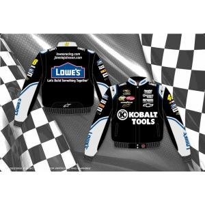 Jimmie Johnson Kobalt Tools Adult Black Nascar Twill Jacket by RacingGifts