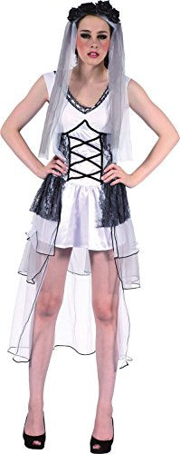 Adult Ladies Halloween Corpse Fancy Dress Party Zombie Wedding Deathly Bride