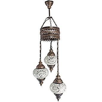 Chandelier Ceiling Lights Turkish Lamps Hanging Mosaic Lights Pendant Wh