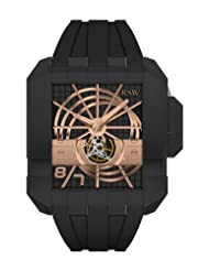 RSW Men's 7110.MS1.R1.10.00 Crossroads Square Automatic Black Rubber Watch