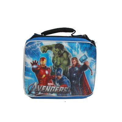 Marvel Avengers Insulated Lunch Bag Hulk, Iron Man, Captain America & Thor Blue