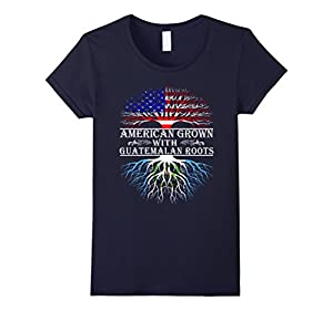Women's American Grown With Guatemalan Roots Proud T-Shirt For Women Small Navy