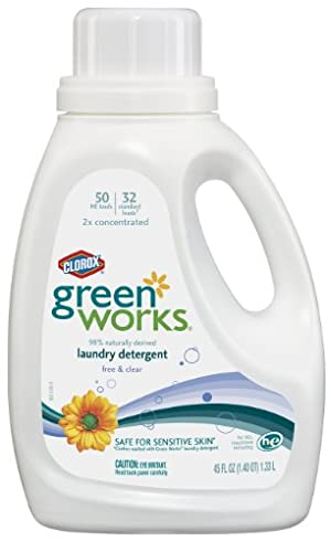 GreenWorks Natural Laundry Detergent Liquid, Free & Clear