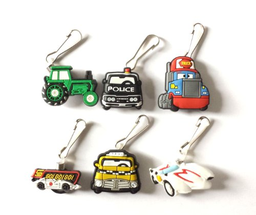 AVIRGO 6 pcs Zipper Pull / Zip pull Charms for Jacket Backpack Bag Pendant Set # 24-2