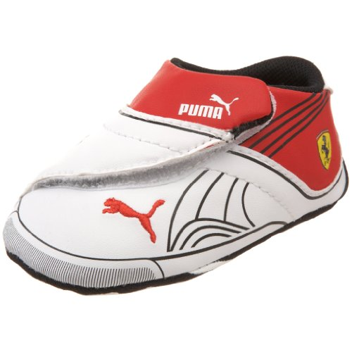 PUMA Kids' Future Cat Remix SF Crib Shoe,White/Black/Rosso Corsa,3 M US Infant