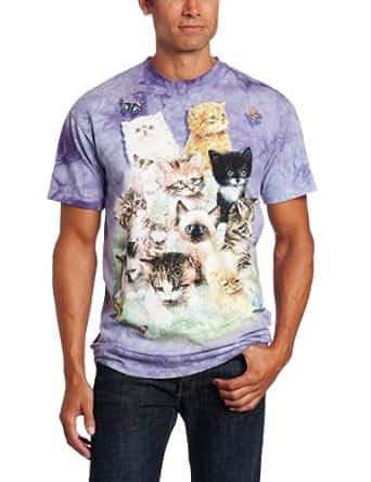 The Mountain 100% Cotton 10 Kittens T-Shirt (Purple, Small)