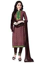 Justkartit Women's Unstitched Brown Colour Casual & Formal Daily Wear Salwar Kameez / Work Wear & Office Wear Salwar Suit / Pant Style Salwar Kameez (June 2016 Collection)