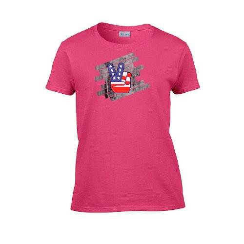 Iamtee Womens Peace T-Shirt-Pink-L