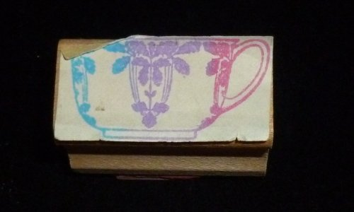 Small Teacup Rubber Stamp - 1