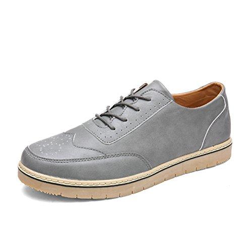 Semplice contro le sovratensioni nei panni di inizio estate/Moda sport shoes/Brock incisa-scarpe uomo-grigio Lunghezza piede=26.8CM(10.6Inch)