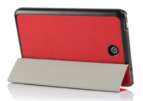 IVSO Dell Venue 8 Android Ultra Lightweight Slim Smart Cover Case-will only fit Dell Venue 8 Android Tablet (Red)