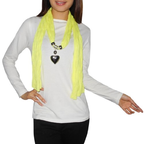 Femmes Comfortable & SuperSoft Neck Scarf With Dangle Charms (Size: one size ) Picture