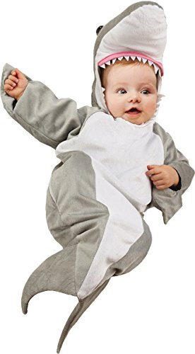 UHC Baby's Shark Bunting Sea Theme Infant Fancy Dress Halloween Costume, 0-6M (Mascot Costume Shark compare prices)