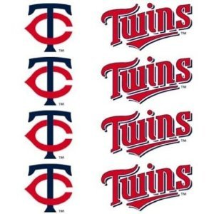 MLB Minnesota Twins 8-Pack Waterless Temporary Tattoos