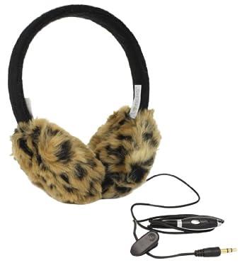 Lobers Women's Leopard Print Earmuffs, Black Multi, One Size