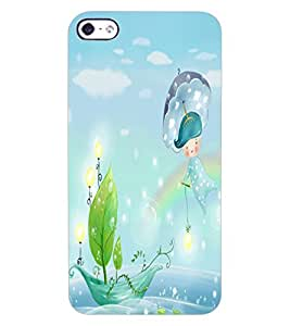 ColourCraft Beautiful cartoon Image Design Back Case Cover for APPLE IPHONE 4S
