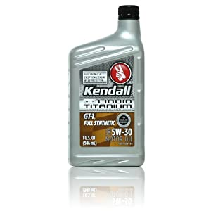 Kendall GT-1 Full Synthetic 5w-30 with Liquid Titanium - 12/1 qt. case from Kendall Motor Oils