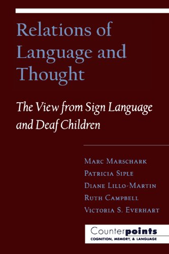 Relations of Language and Thought The View from Sign Language and Deaf Children Counterpoints Cognition Memory Psychology and Language