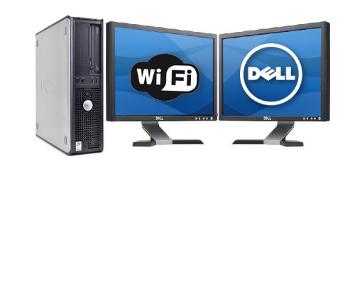 Dell 780 Optiplex Sff With (2) 19 Inch Dell Lcd ,Wifi Intel Core 2 Quad Q9400 2.66Ghz Amazing 1333Mhz Bus Spped 6Mb Of Cache, New With Warranty 1Tb 7200 Rpm Seagate Hdd 8Gb Ddr3 High Performance Ram, Dvd/Cd Rw, Windows 7 Professional 64 Bit With Restore C