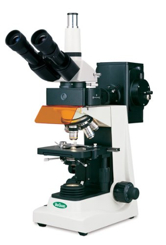 Vanguard 1482Fli Brightfield Fluorescence Microscope With Trinocular Head, Halogen Illumination, 4X, 10X, 40X, 100X Magnification, 360 Degree Viewing Angle