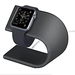 Apple Watch Stand, Camkey Iwatch Charging Stand Aluminum Charging Dock (Space Gray)