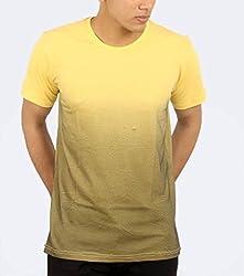 Younsters Choice Men's Cotton T-Shirt (YC-5838_Lemon Yellow_Medium)