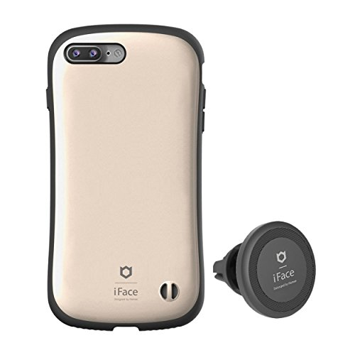 iPhone7 Plus ケース カバー iFace Duo Set 車載ホルダー カーマウント セット 正規品 / シャンパンゴールド