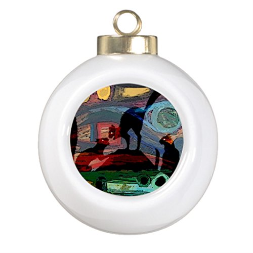 Tissuesy Custom Christmas Ball Ornaments EVENING CHALLENGE Decorating Christmas Trees (Ferrel Cat House compare prices)