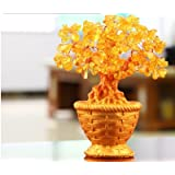 Holiday Gifts Natural Citrine Quartz Crystal Gem Money Tree In For Wealth