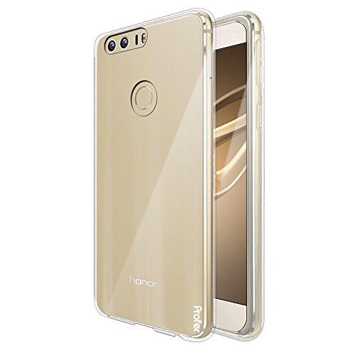Huawei Honor 8 Hülle, Profer TPU Transparent Weich Silikon Schutzhülle für Huawei Honor 8 (TPU-Durchsichtig)