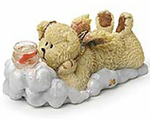 Lil Wing Goldie Angel Bear Boyd Figure Watching Goldfish in Bowl Adorable (Boyds Resin Figures compare prices)