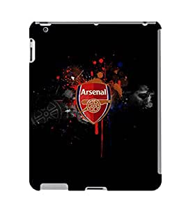 Fuson 3D Printed Arsenal Logo Designer Back Case Cover for Apple iPad 4 - D804