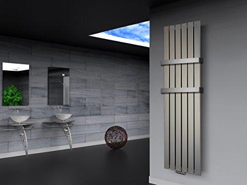 Badheizkrper-Design-Peking-3-HxB-180-x-47-cm-1118-Watt-Edelstahloptik-2-Handtuchhalter-50mm-Marke-Szagato-Made-in-Germany-Top-verarbeiteter-Bad-und-Wohnraum-Heizkrper-Mittelanschluss