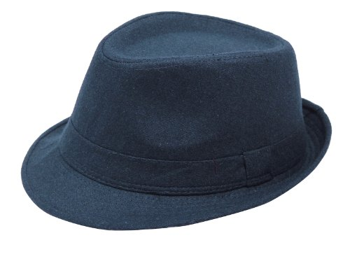 Men'S Fedora Hat, Navy Color, Adult Hat Cap front-633890