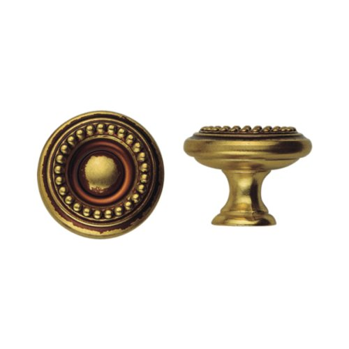 Bosetti Marella 100430.54 Louis XVI Round Knob, 1.18-Inch Diameter, French Antique Gold