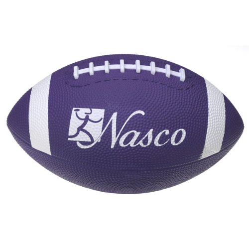 Nasco PE02694E Junior Size 3 Football, Purple, Grades 5+