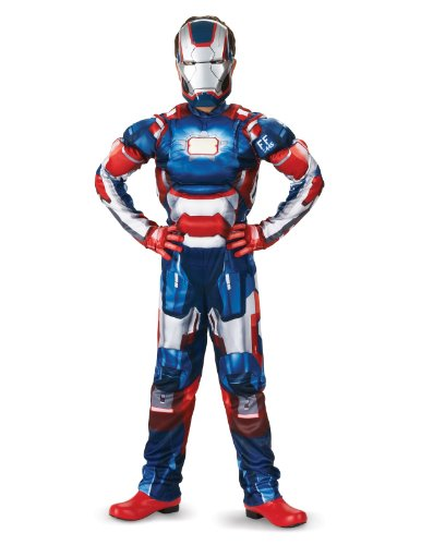 Marvel Iron Man 3 Patriot Boys Classic Muscle Costume