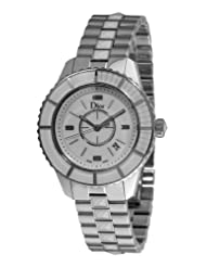 Christian Dior Women's CD113111M001 Christal Diamond White Dial Watch
