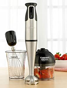 Cuisinart HB-154PC Smart Stick Hand Blender With Whisk & Chopper Attachments - Club... by Cuisinart