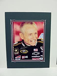 Mark Martin Autographed Picture - Matted 8x10 Psa Coa - Autographed NASCAR Photos by Sports Memorabilia